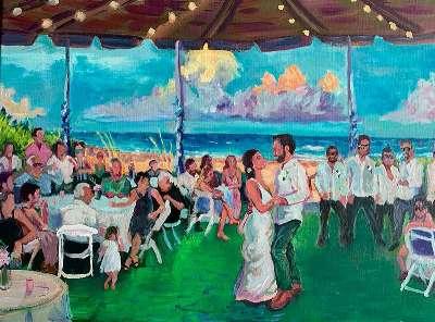 Uw bruiloft schilderen: een trendy souvenir!