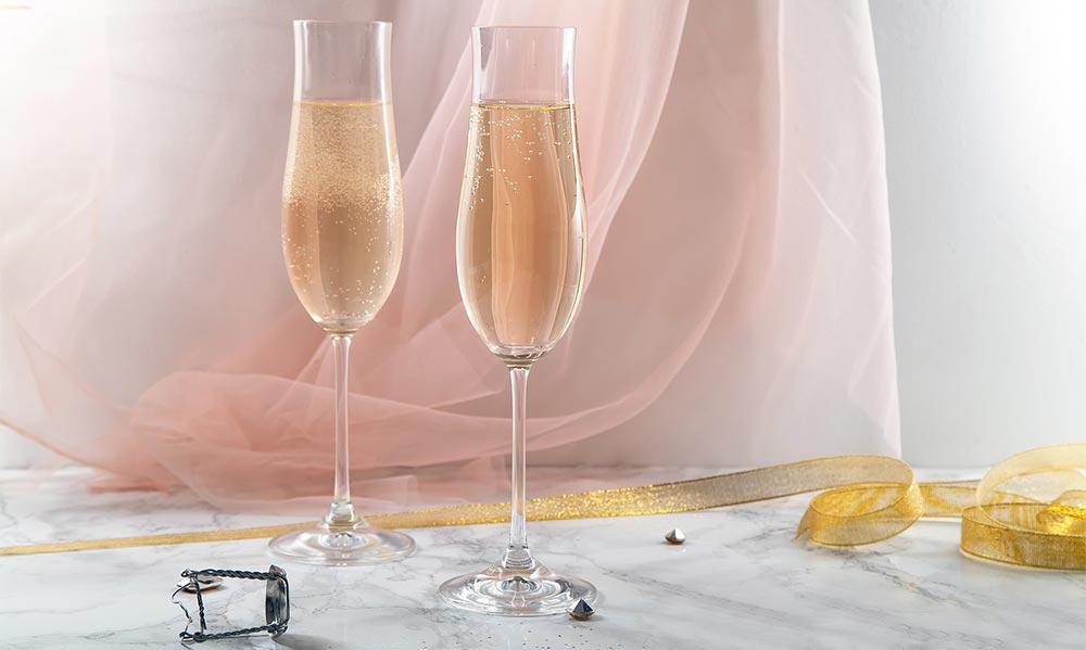 Verres de champagne